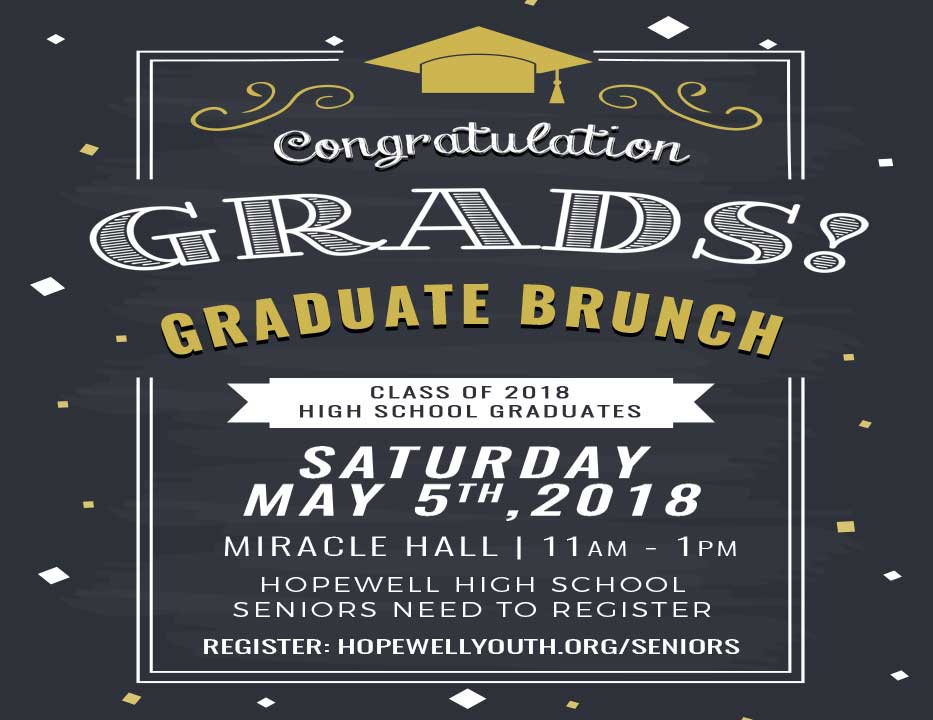 High School Graduate Brunch | Saturday, May 5